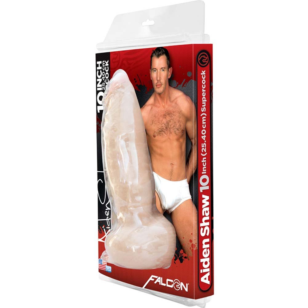 "Falcon Aiden Shaw SuperCock with Balls 10.5"" Natural - View #4"
