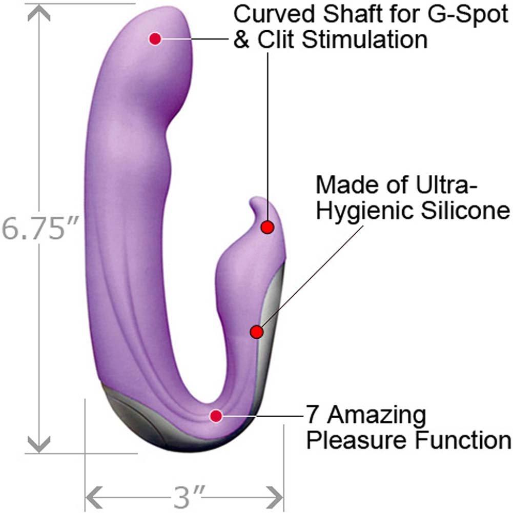 """Velvet Plush 7X Zuma Silicone G-Spot Vibrator 6.75"""" Purple - View #1"""
