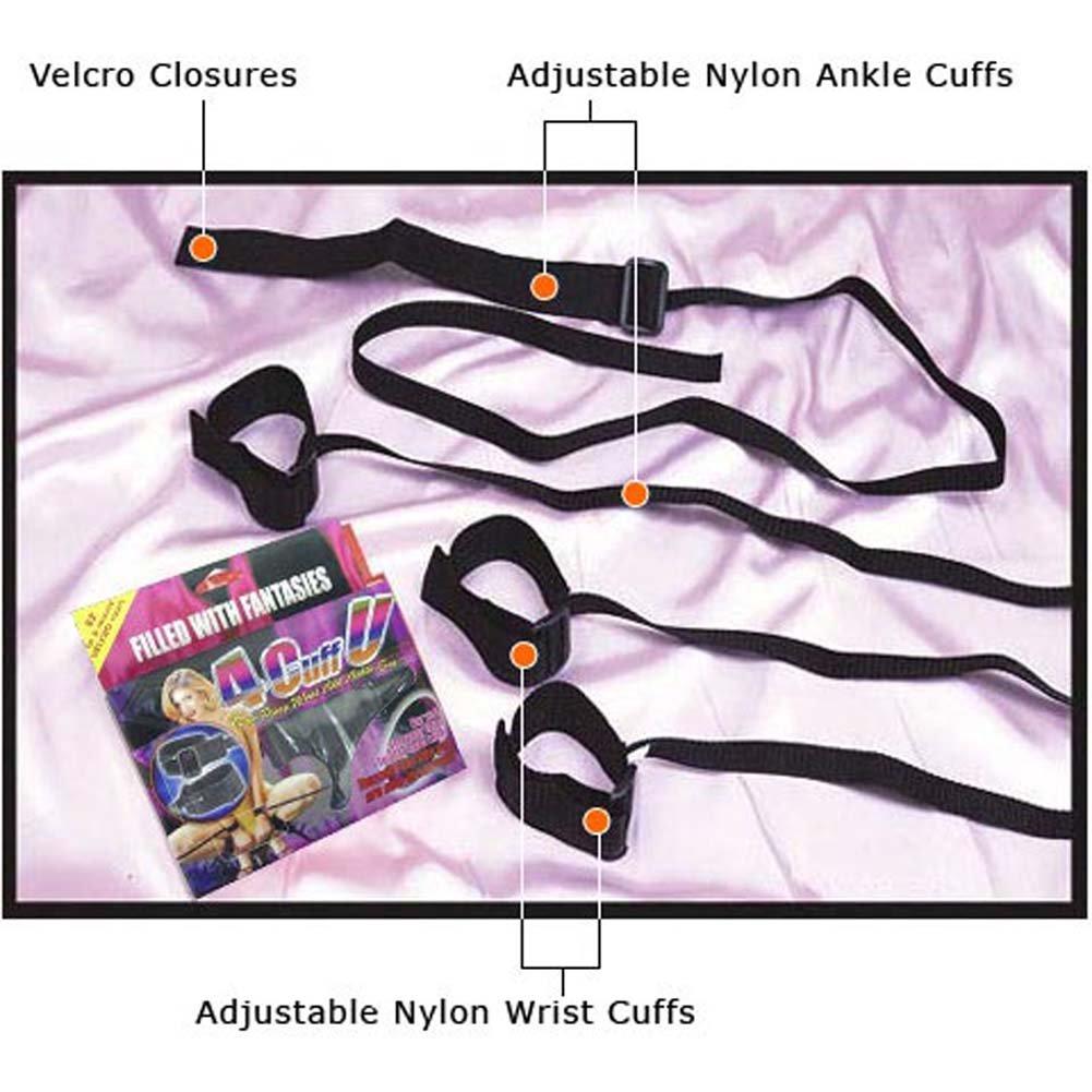 4CuffU Nylon Wrist and Ankle Cuffs Set - View #1