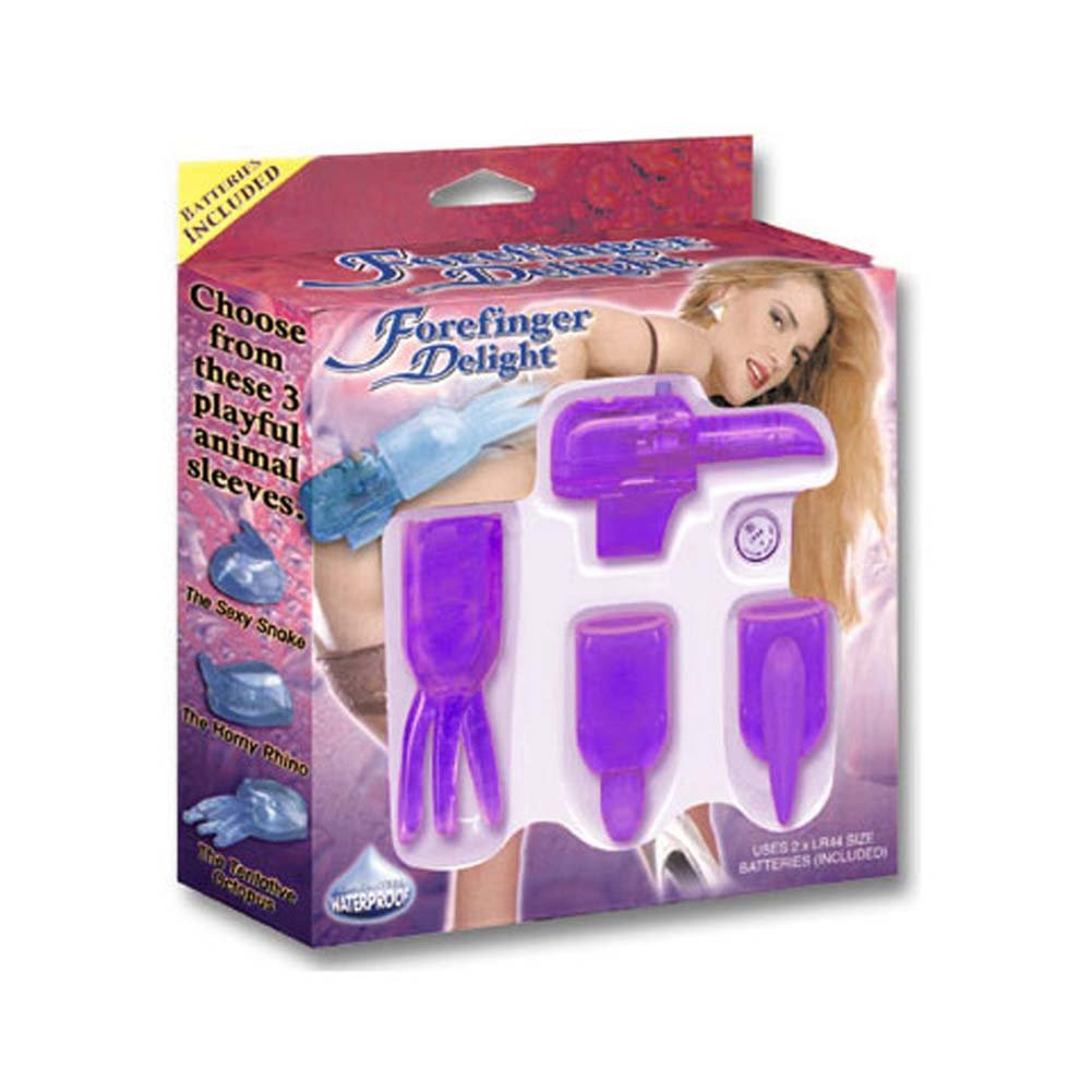Forefinger Delight 4 Purple Pieces Kit with Waterproof Vibe - View #3