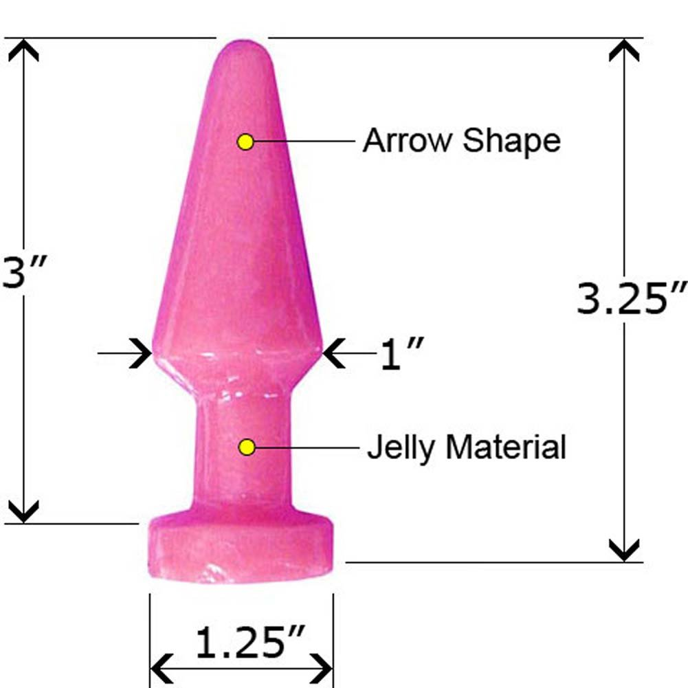 Jelly Tight Ass Butt Plug Assorted Colors 3.25 In. - View #2
