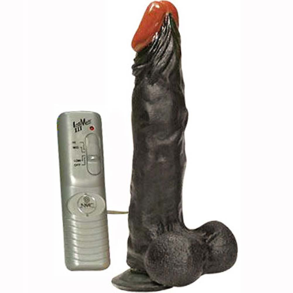 Authentic Reaction Vibrating Dong with Balls Black 8.5 In. - View #3