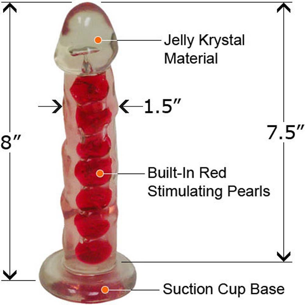 Clear Stone Ripple Pliable Love Jelly Dong 8 In. - View #2