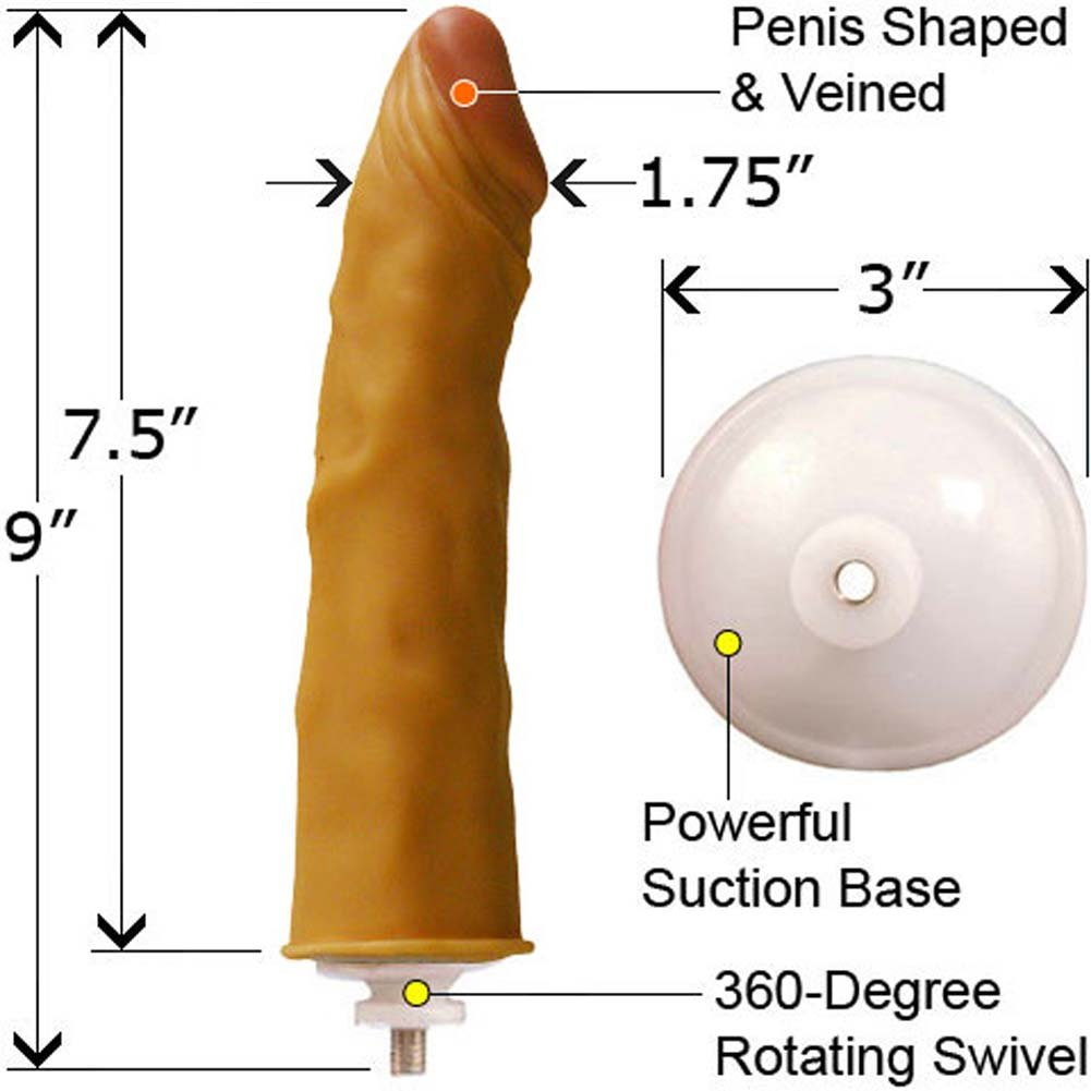 Justin Kredable Realistic Cock Natural 9 In. - View #2