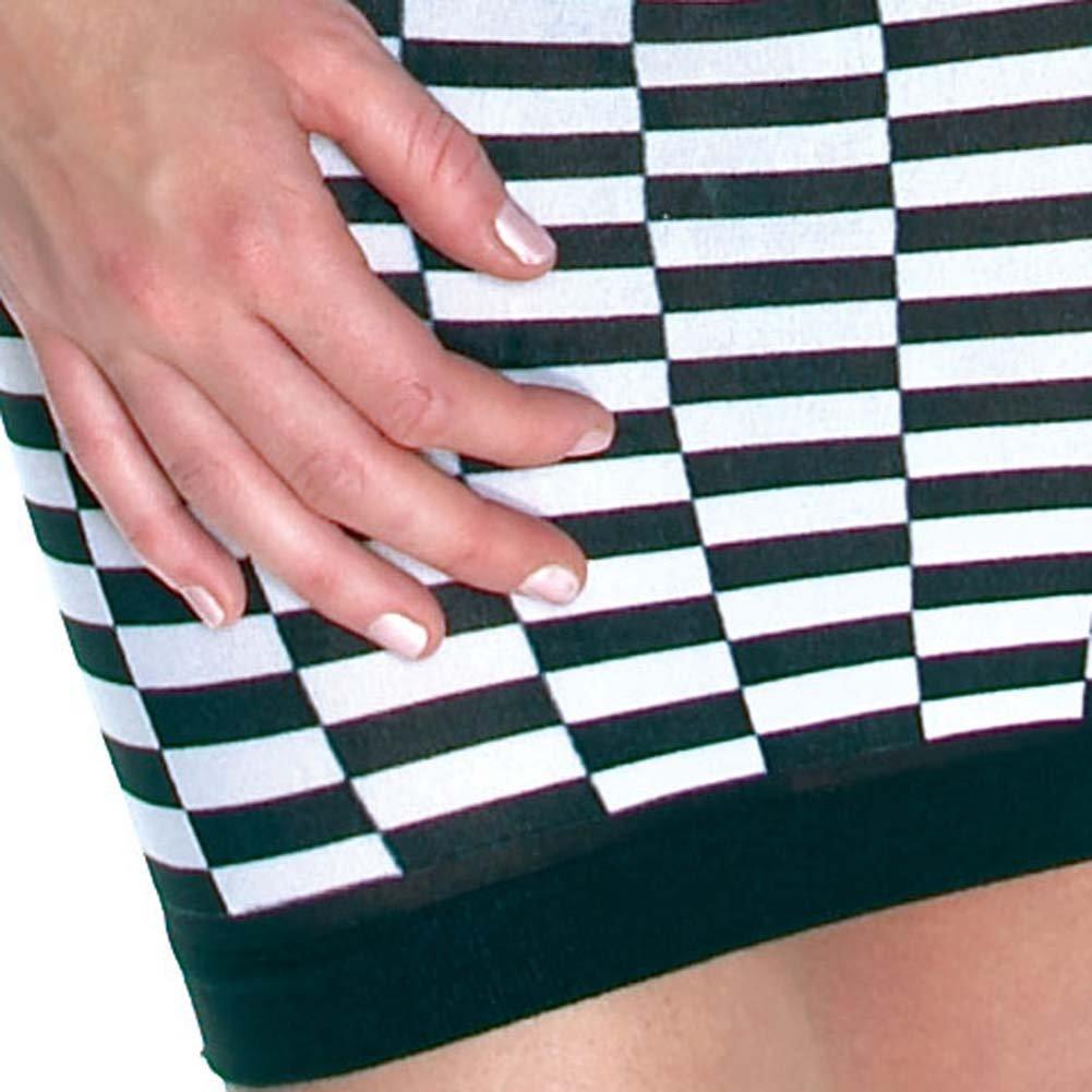 Checker Tube Mini Dress Black and White - View #4