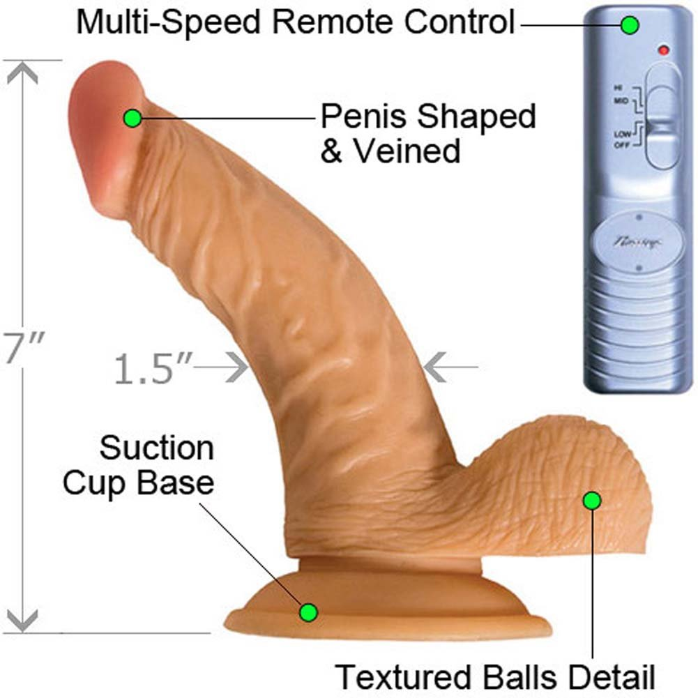 "RealSkin All American Whoppers Flexible Ballsy Vibrator 7"" Natural Flesh - View #1"