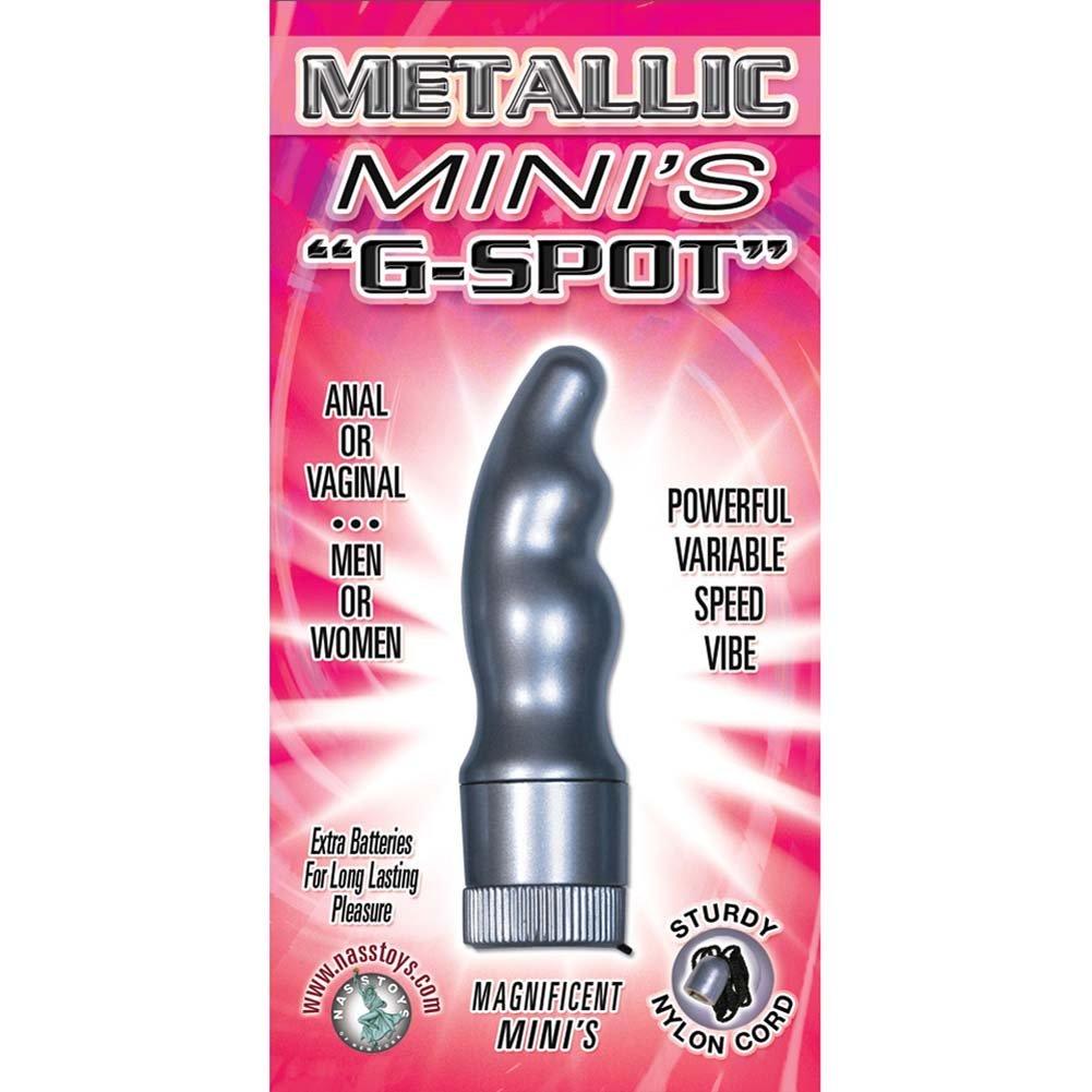 "Metallic Minis Waterproof G-Spot Personal Vibrator 2.75"" Silver - View #3"