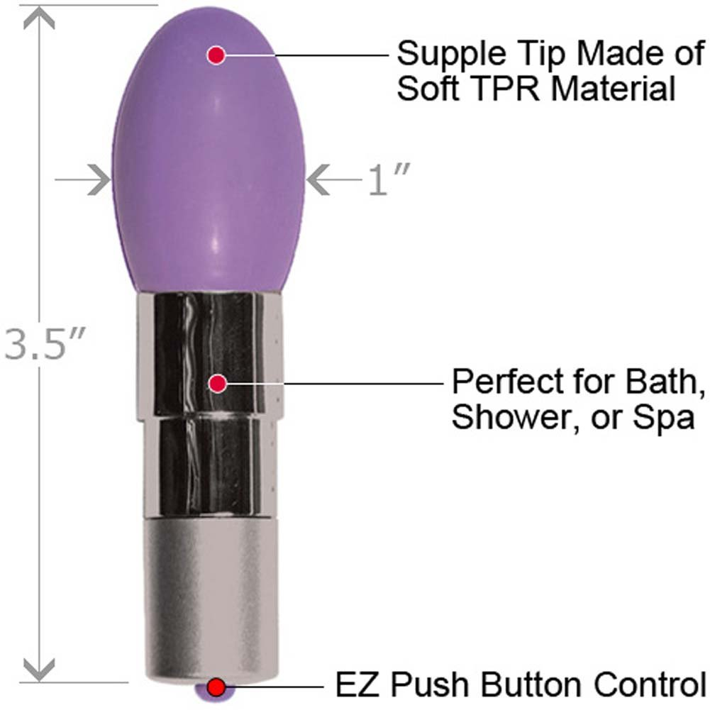 "Pocket Queen Waterproof Intimate Vibrator 3.5"" Lavender - View #1"