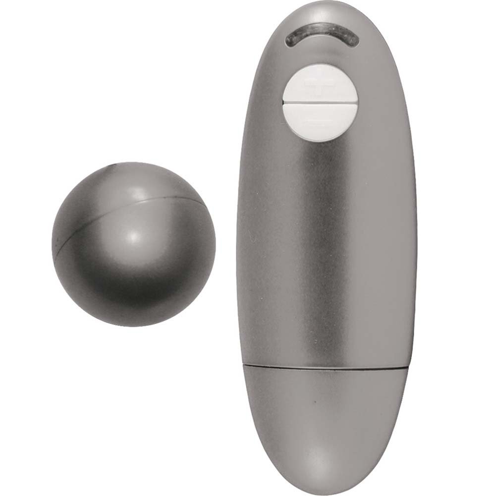 Wisper Collection Metallic Passion Vibrating Sphere Silver - View #2
