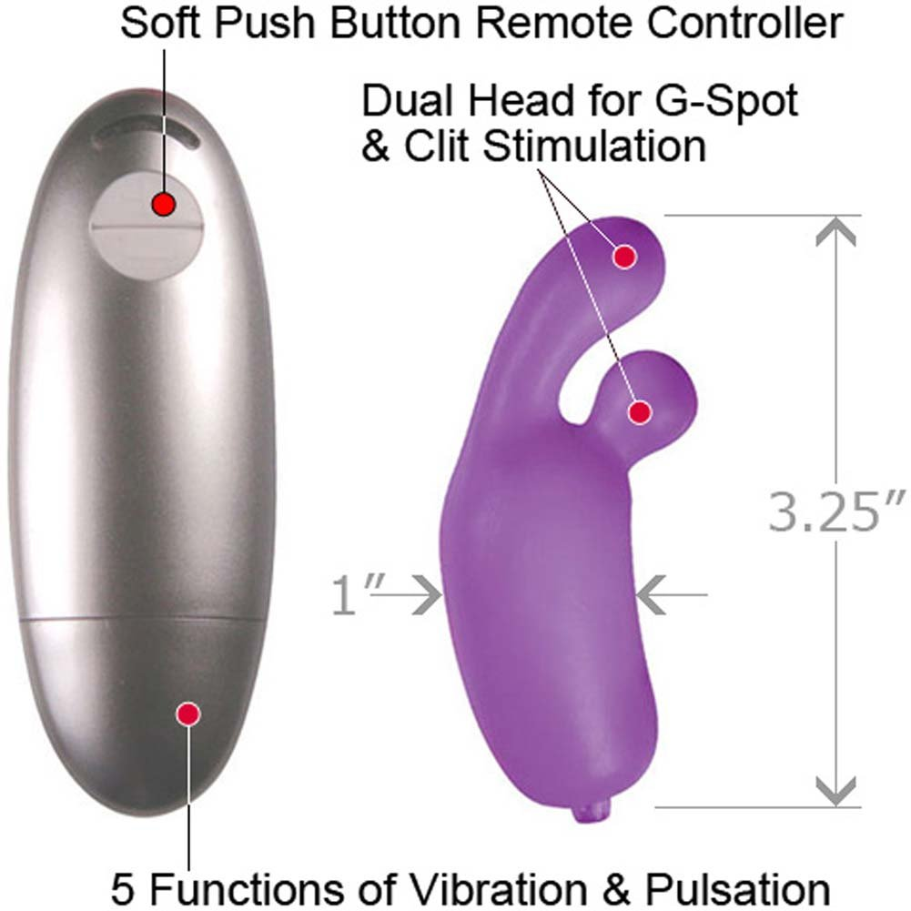 "Nassty Collection Waterproof Motion Tip Bullet Vibe 3.5"" Purple - View #1"