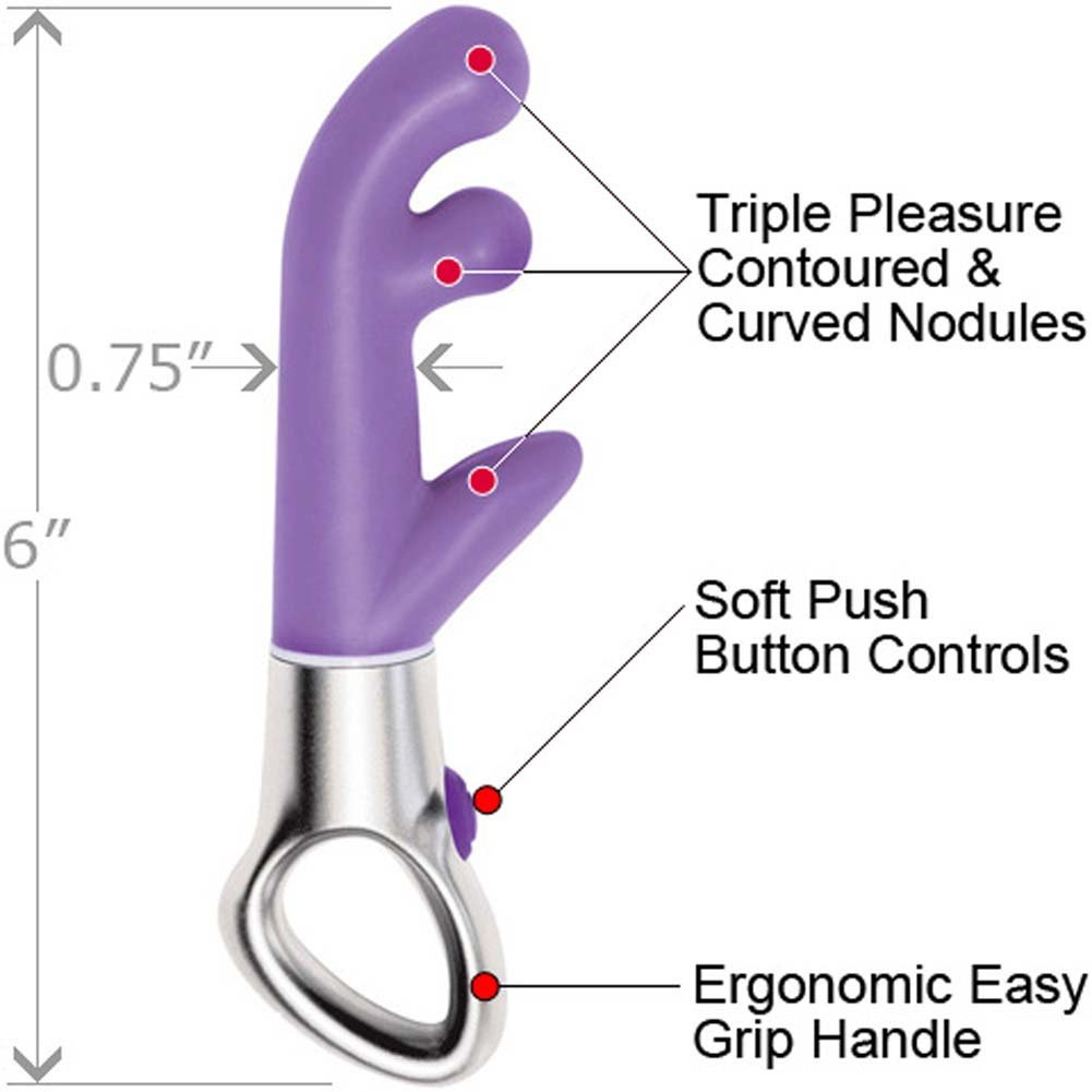 "Illusion Impulse G-Spot Female Intimate Vibrator 6"" Sexy Lavender - View #1"