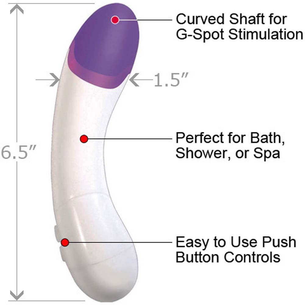 "Twilite Curve Waterproof Vibrating Massager 6.5"" Naughty Purple - View #1"
