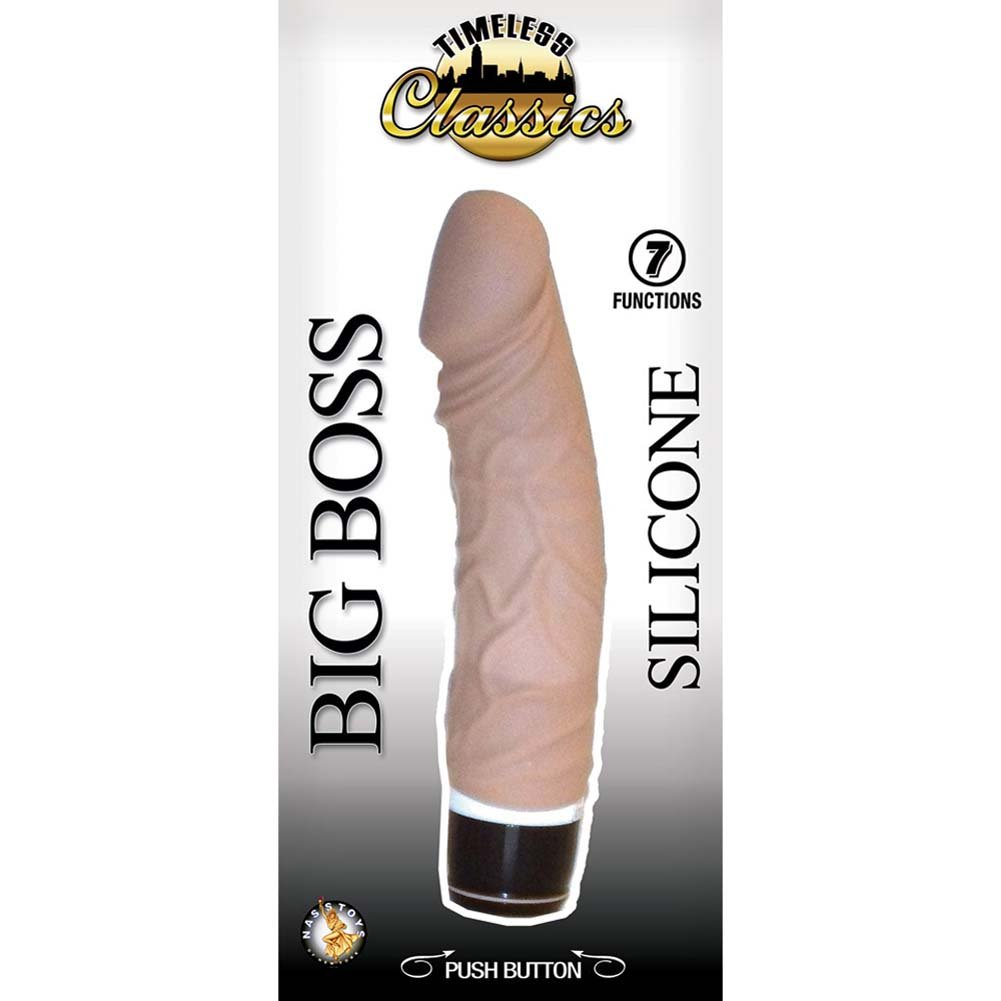 "Big Boss Silicone 7 Function Realistic Vibrator 7.75"" Natural - View #3"
