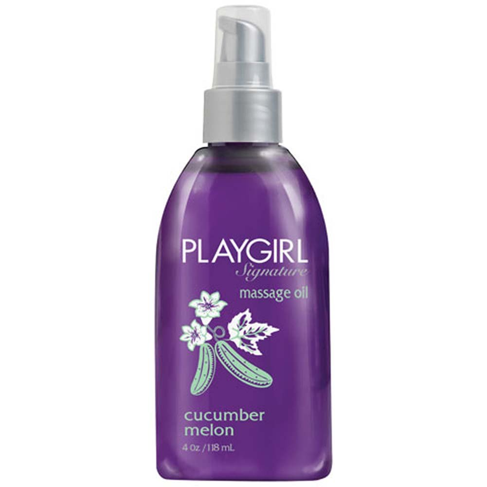 Playgirl Signature Massage Oil Cucumber Melon 4 Fl. Oz. - View #1