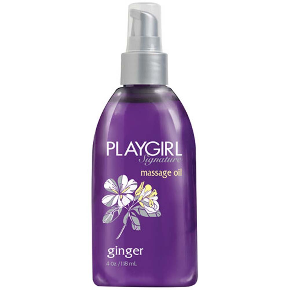 Playgirl Signature Erotic Massage Oil 4 Fl. Oz. Ginger - View #1