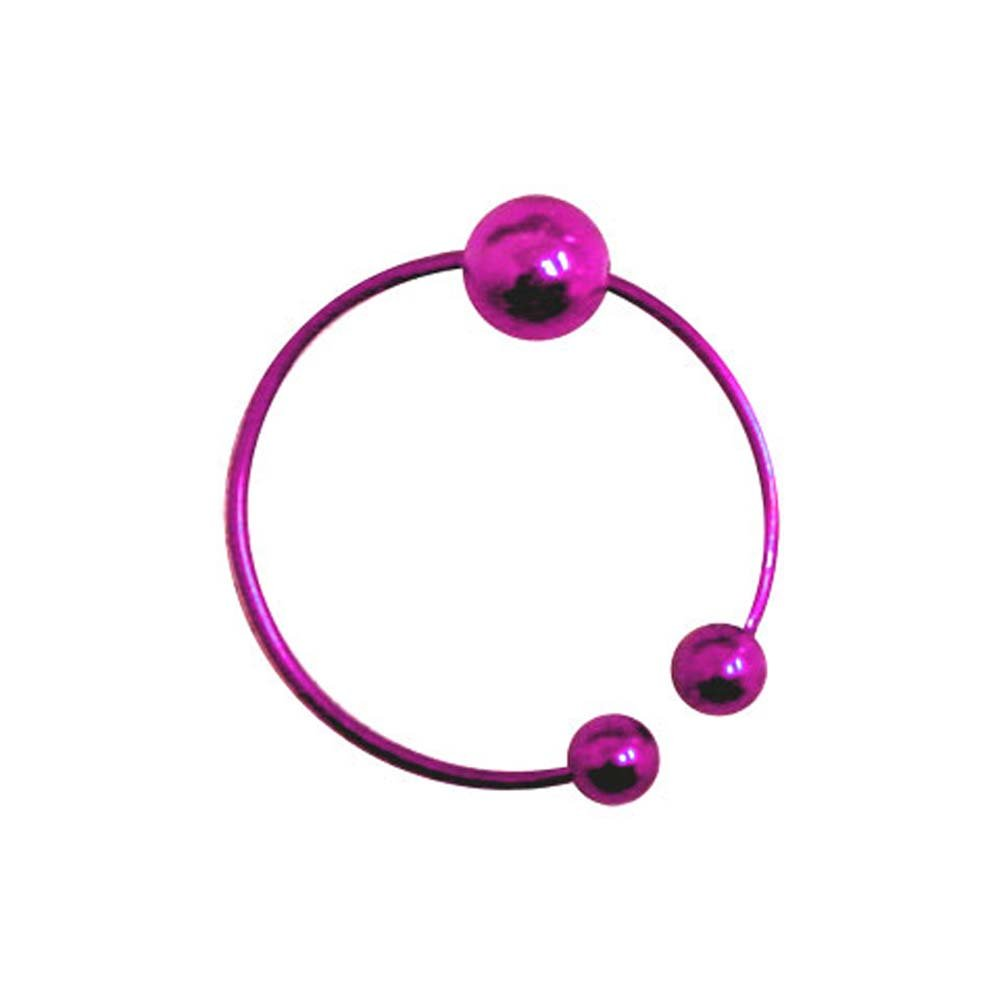Beginners Belly Button Ring Purple - View #1