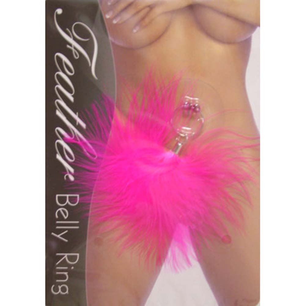 Feather Belly Ring Pink - View #1