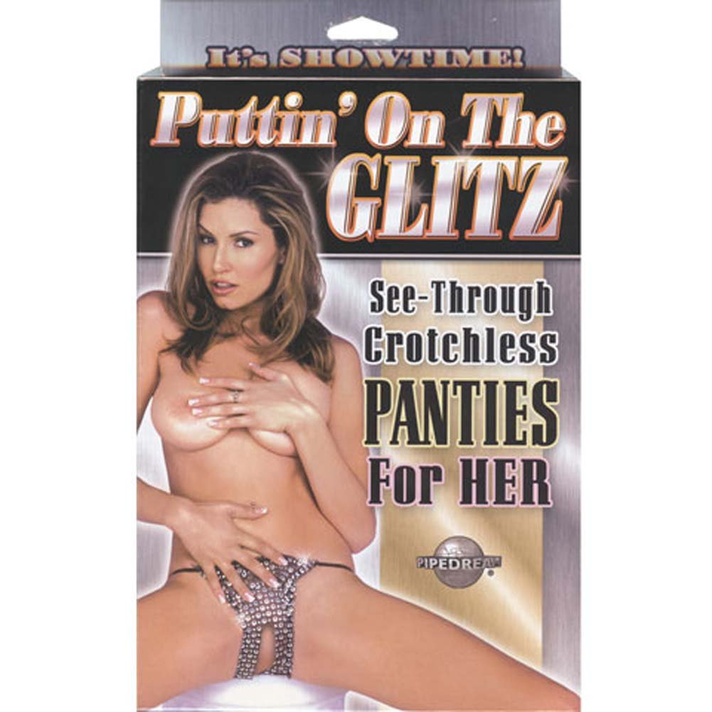 Puttin On the Glitz See Through Crotchless Panties for Her - View #1
