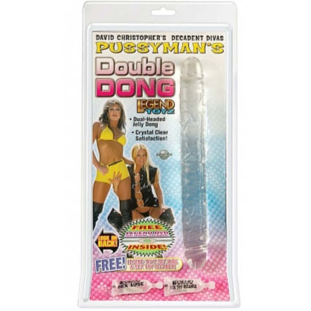 Pussymans Double Jelly Dong 13 In. With Free XXX DVD - View #1
