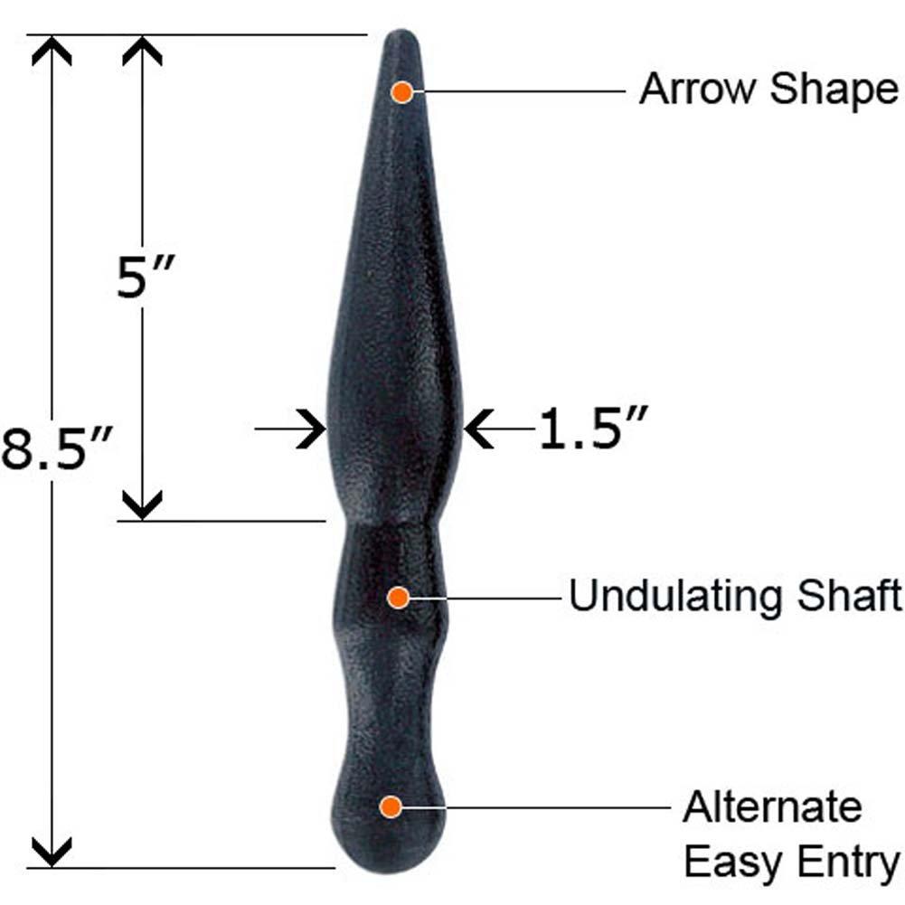 """Classix Pleasure Stix Waterproof Butt Plug Set 9"""" Black - View #4"""