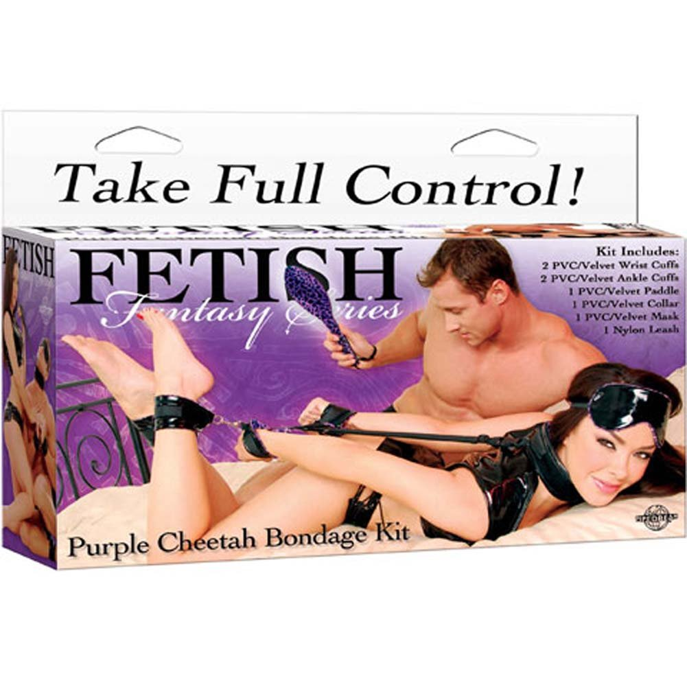 Fetish Fantasy Series Purple Cheetah Bondage Kit - View #4