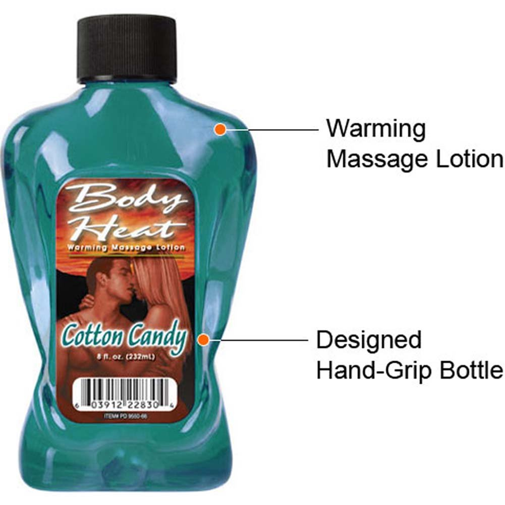 Body Heat Warming Massage Lotion Cotton Candy 8 Fl. Oz. - View #2