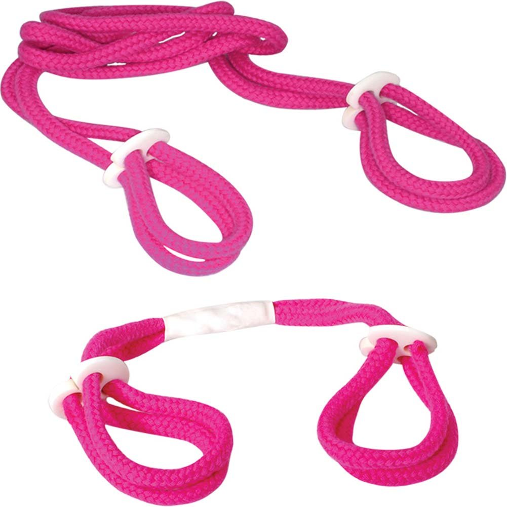 Fetish Fantasy Series Light Rope Cuff Set Pink - View #3