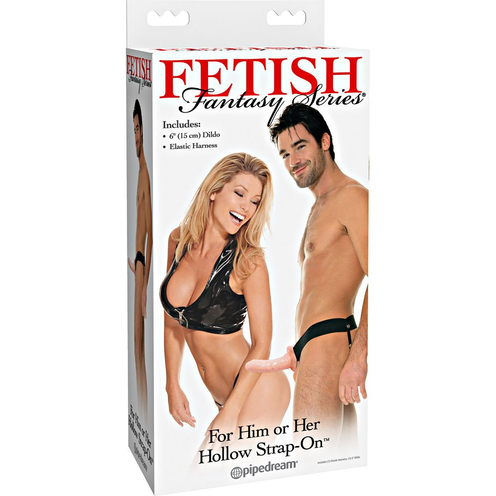 Fetish Fantasy Hollow Strap-On Dong for Him or Her Natural - View #4