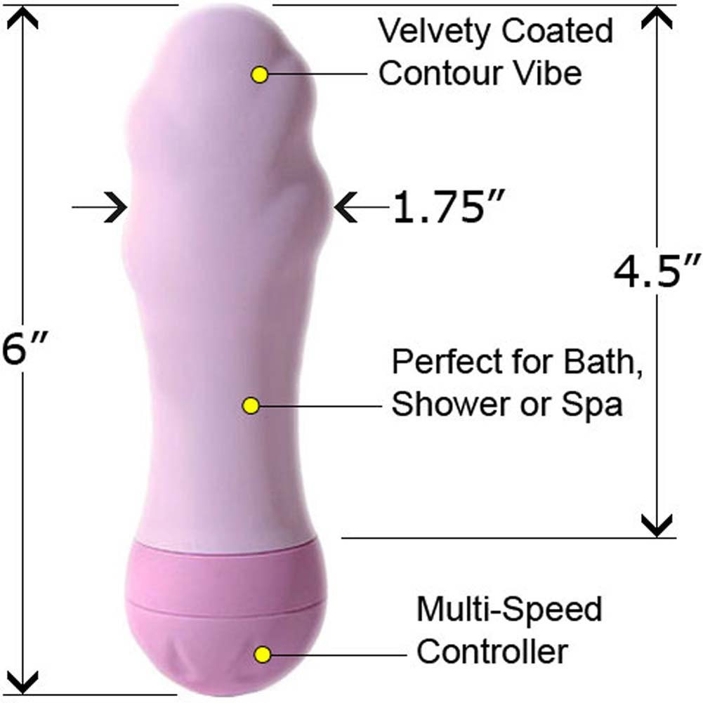 "Luv Touch Contour Waterproof Vibe 6"" Lavender - View #1"