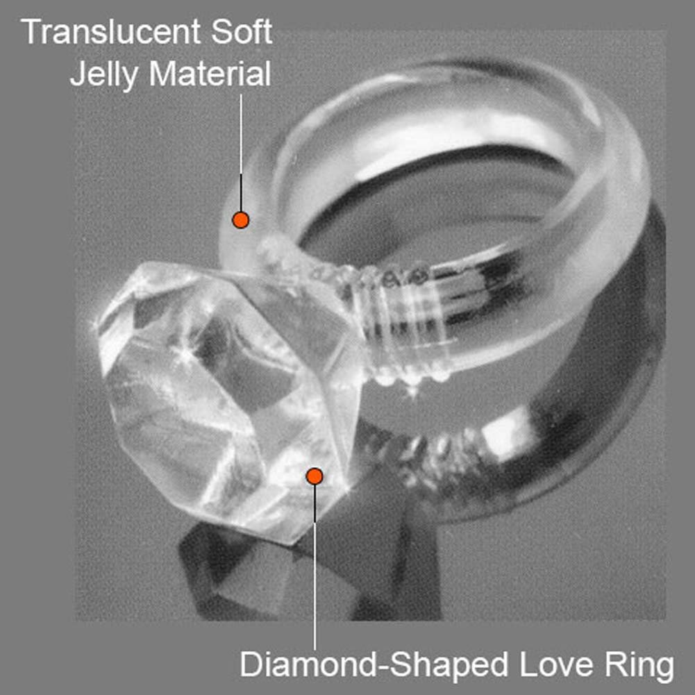 Last a Lifetime Soft Jelly Diamond Love Ring Clear - View #2