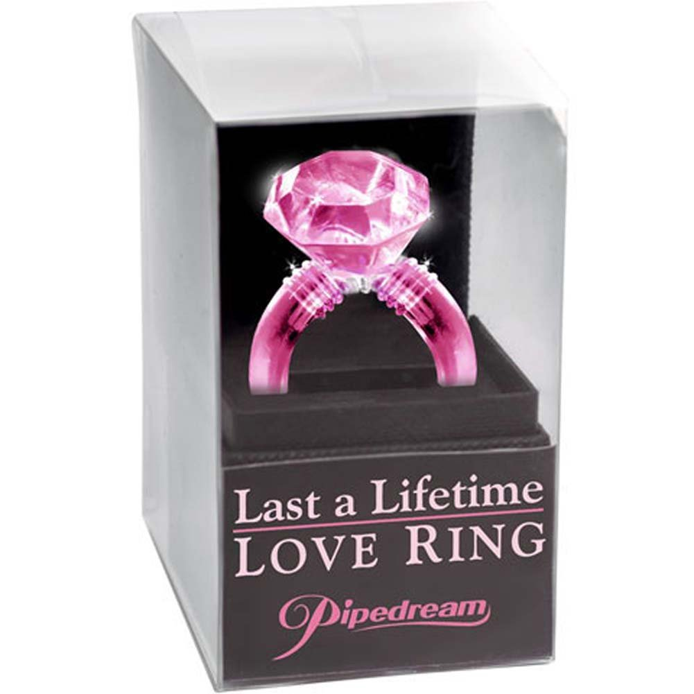 Last a Lifetime Soft Jelly Diamond Love Ring Pink - View #3