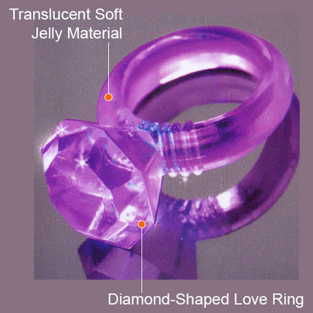 Last a Lifetime Soft Jelly Diamond Love Ring Purple - View #2