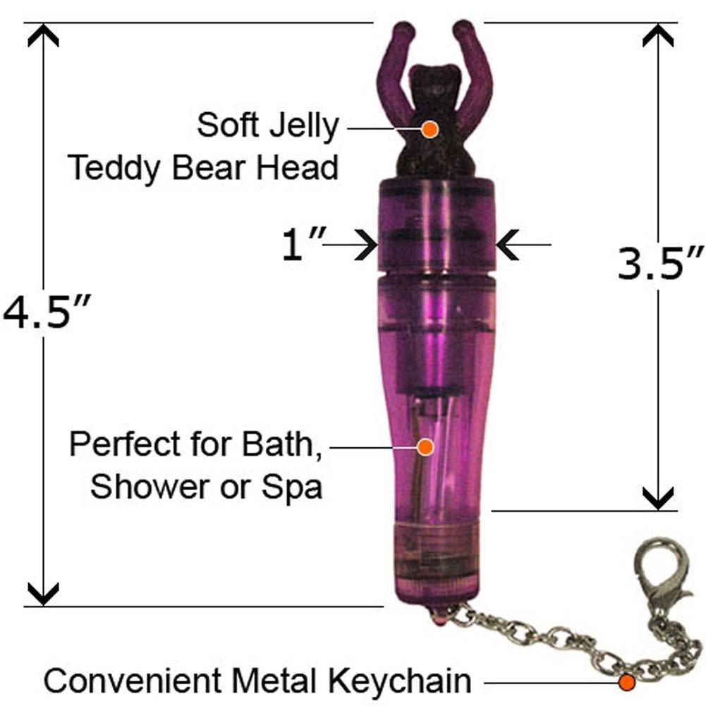 Mini Mals Keychain Teddy Bear Waterproof Jelly Vibe Purple - View #2