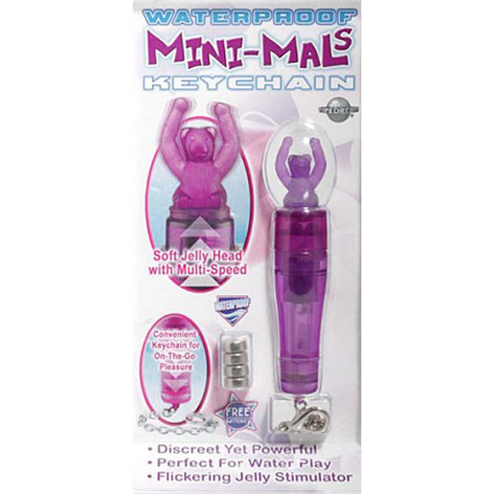 Mini Mals Keychain Teddy Bear Waterproof Jelly Vibe Purple - View #4
