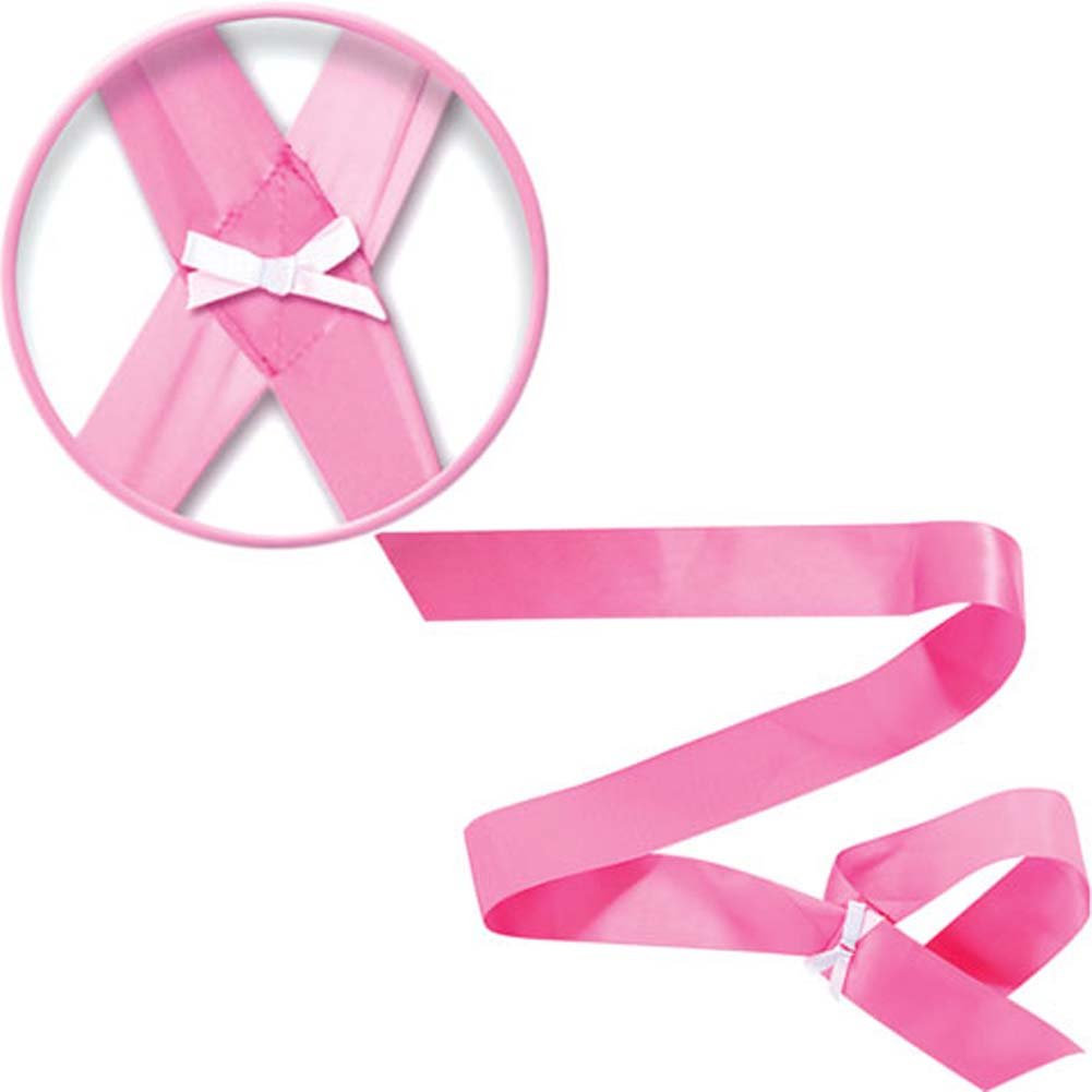 Fetish Fantasy Series Satin Bondage Ribbon Kit Light Pink - View #2