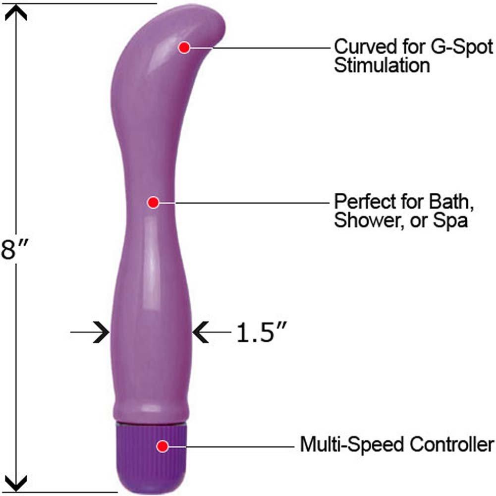 "Pretty Pearl Waterproof G-Spot Vibe 8"" Purple - View #1"