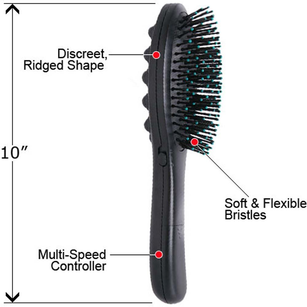 "Discreet Vibrating Hair Brush 10"" - View #1"