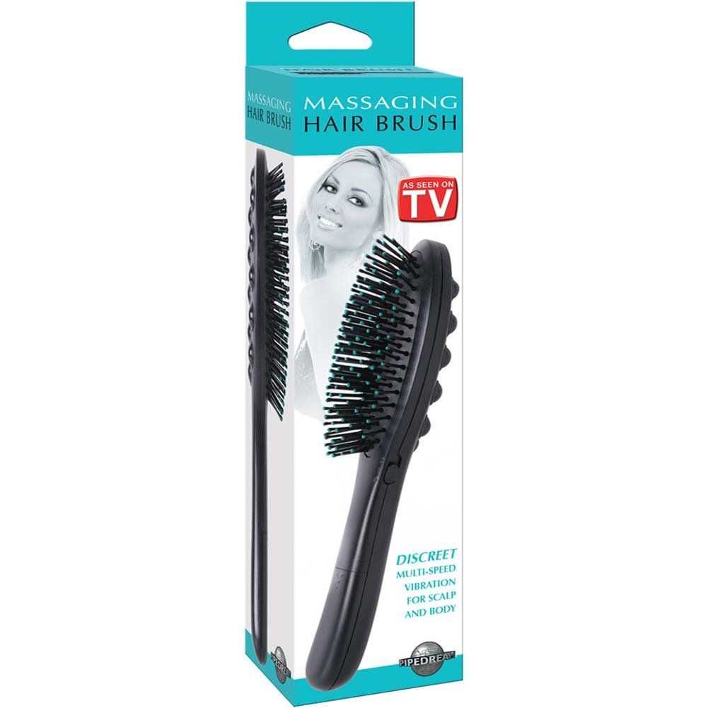 "Discreet Vibrating Hair Brush 10"" - View #3"