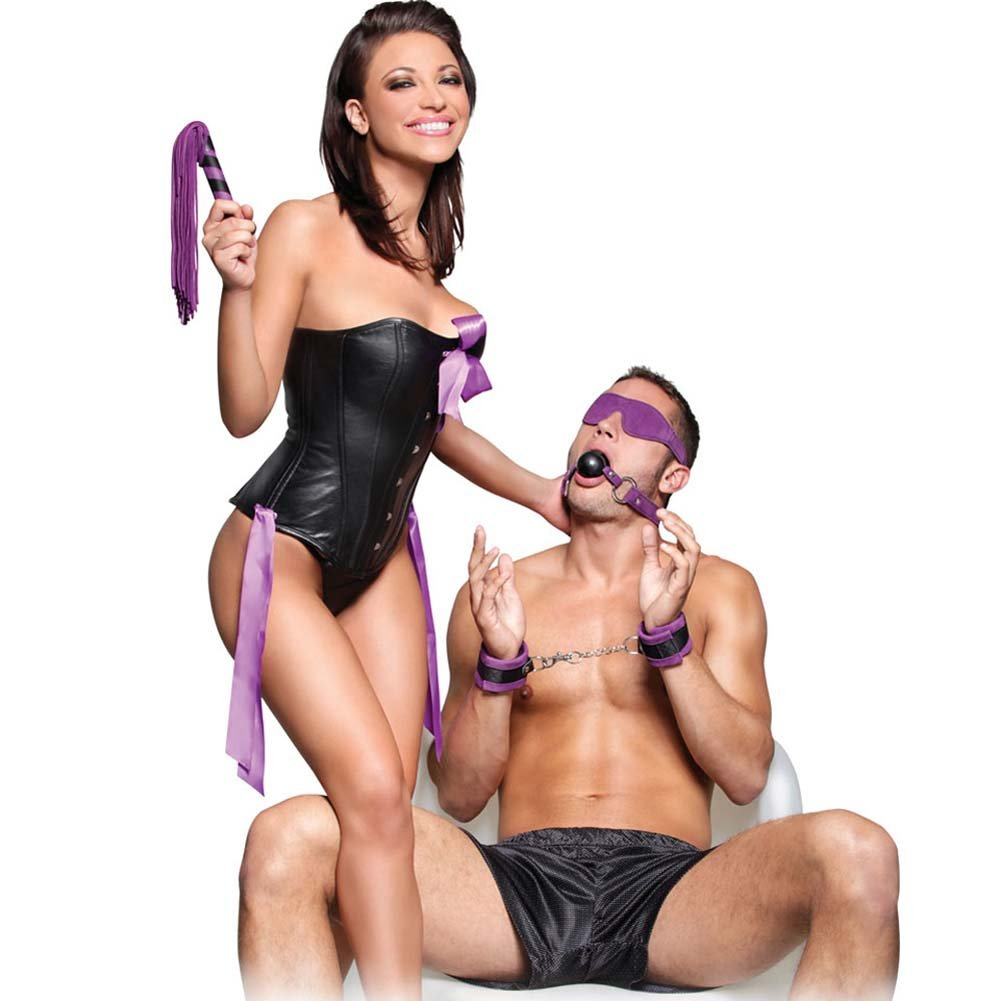 Fetish Fantasy Series Suede Fantasy Kit Purple - View #1