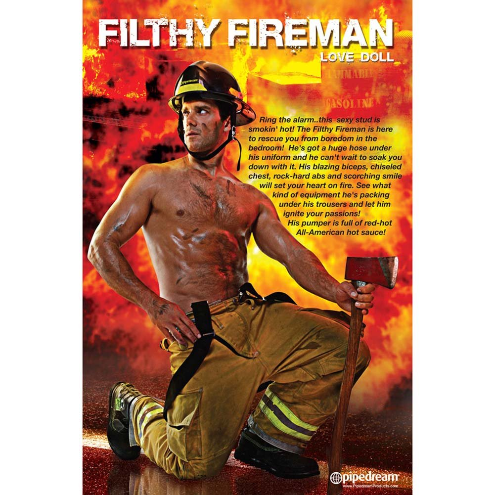 Filthy Fireman Inflatable Love Doll - View #1