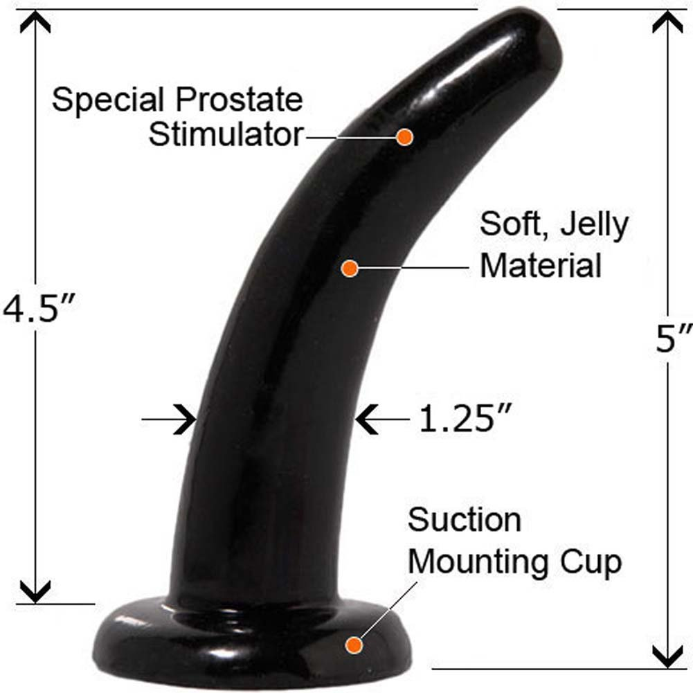 "Fetish Fantasy Limited Edition Pegger Strap-On Dong 5"" Black - View #3"