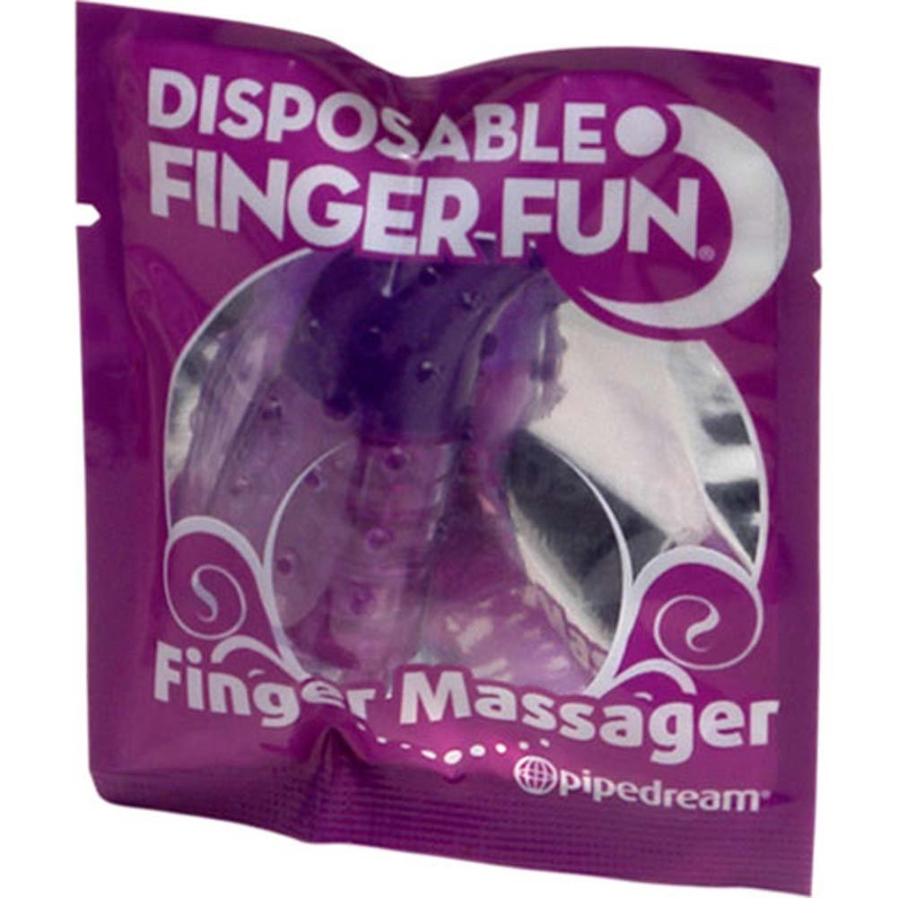 Disposable Finger Fun Vibrating Finger Massager Purple - View #4