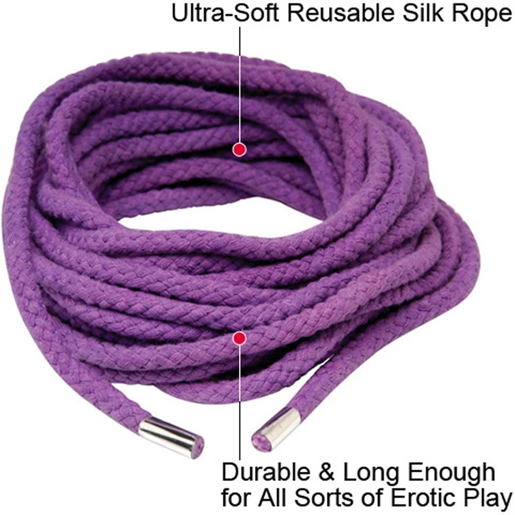 Fetish Fantasy Series Japanese Silk Rope 35 Feet Purple - View #1