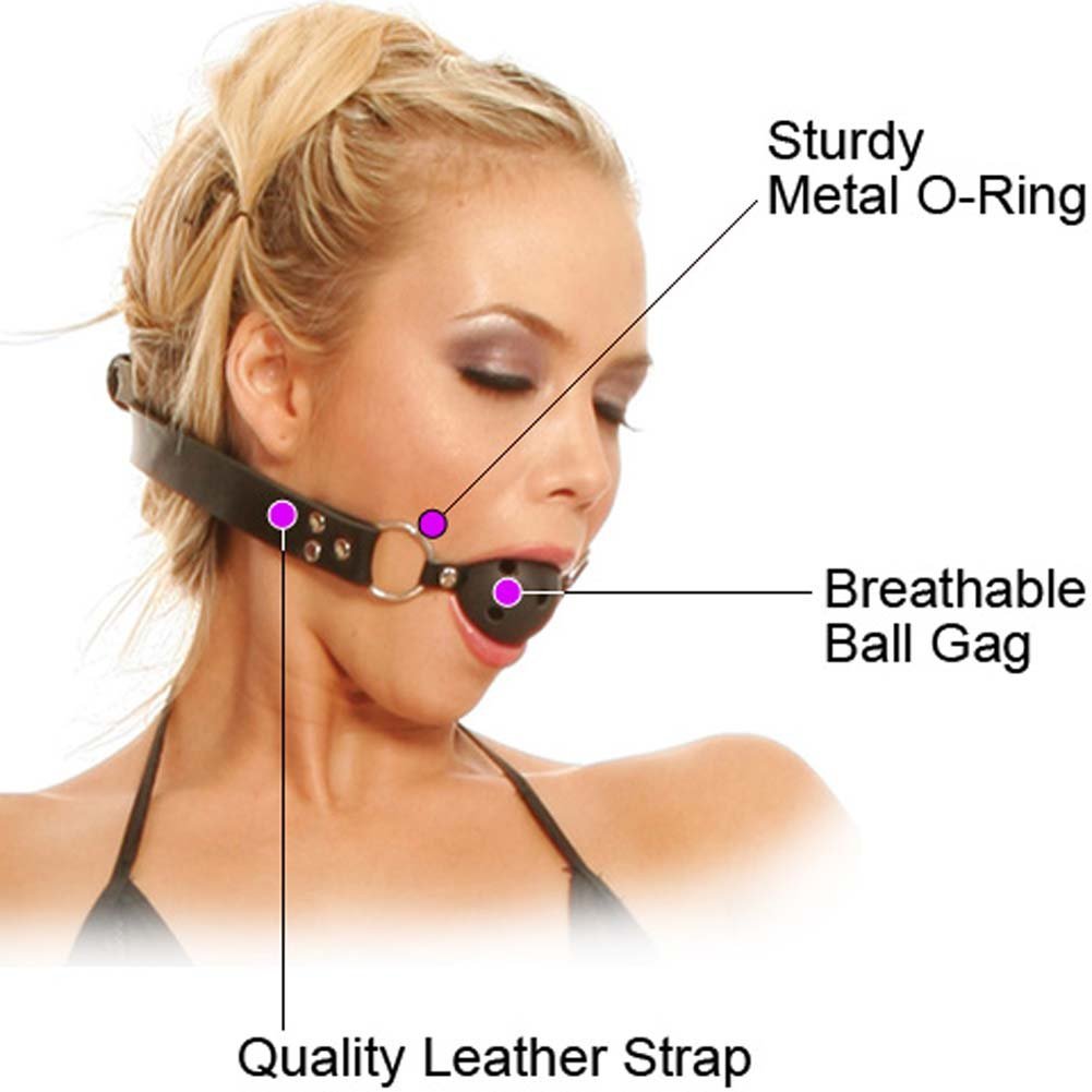 Fetish Fantasy Series Breathable Ball Gag Black - View #1