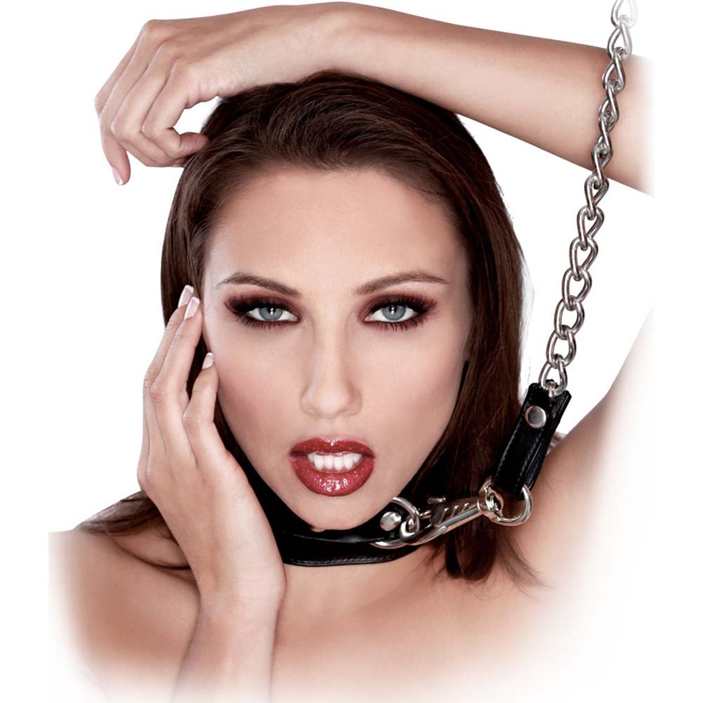 Fetish Fantasy Extreme Heavy Duty Leash and Collar Black - View #2