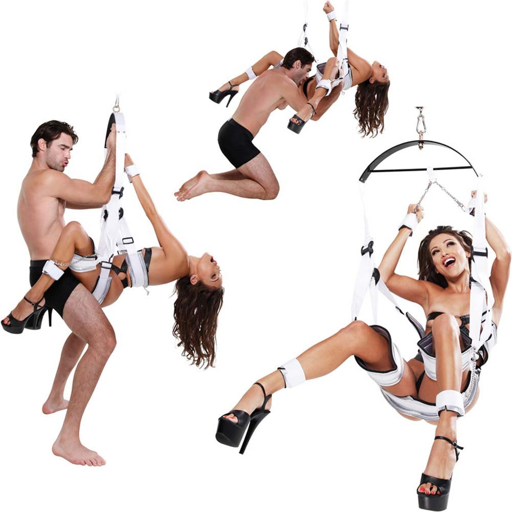 Fetish Fantasy Series Bondage Swing for Couples White - View #1