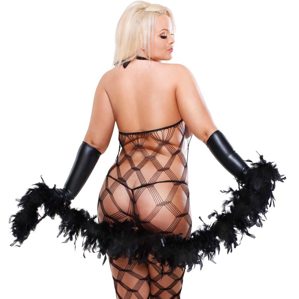 Fetish Fantasy Lingerie Dream Weaver Set Plus Size Black - View #2
