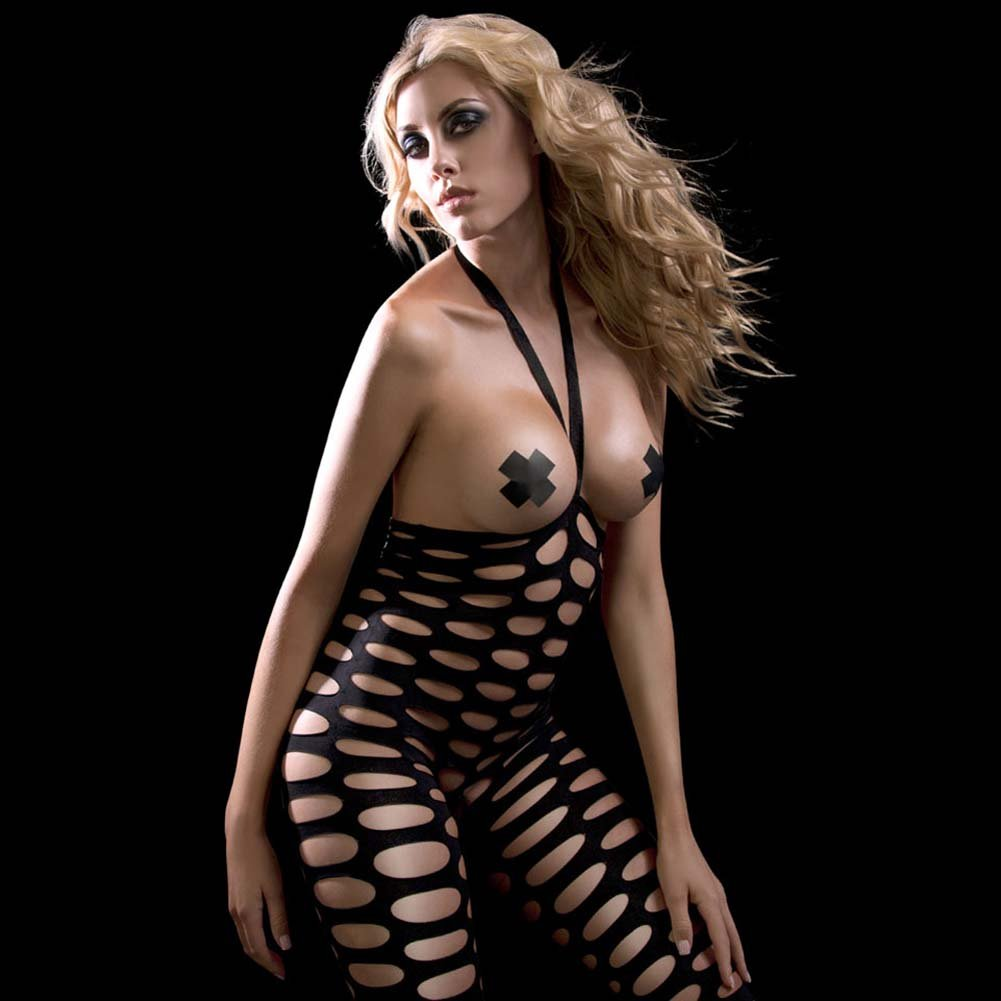 Fetish Fantasy Lingerie Holey Hot Bodysuit Set - View #3