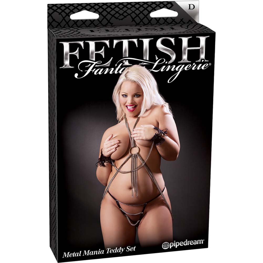 Fetish Fantasy Lingerie Metal Mania Teddy Set Diva Size - View #4