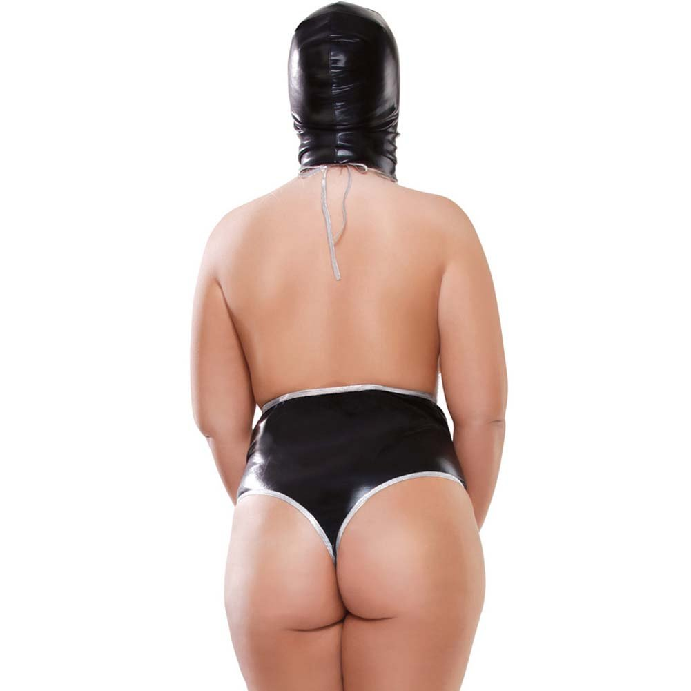Fetish Fantasy Lingerie Extreme Bodysuit Set Plus Size Black - View #2